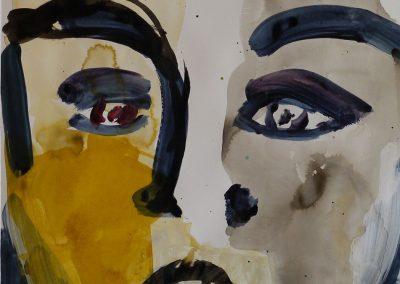Köpfe #12, Acryl und Tusche, 59x42 cm, 2014