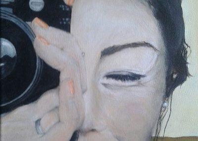 Im Focus, Acryl auf Leinwand, 40x30 cm, 2017