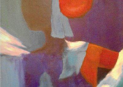 Roter Dutt, Acryl auf Leinwand, 120x80 cm, 2014