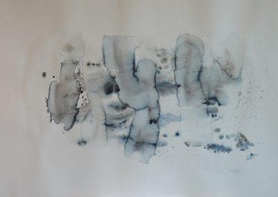 """""""Sepia und Indigo"""", Aquarell 70x100 cm, 2013"""