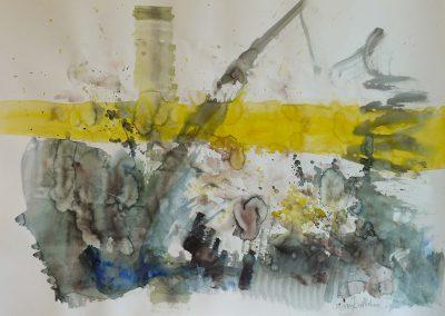 """Aus mir heraus"", Aquarell 70x100 cm, 2013"