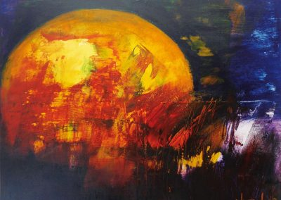 Sonnenglut, Acryl auf Leinwand, 100x120 cm, 2018